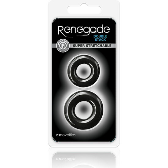 RENEGADE DOUBLE STACK  KIT DE 2 ANILLOS - NEGRO (1)
