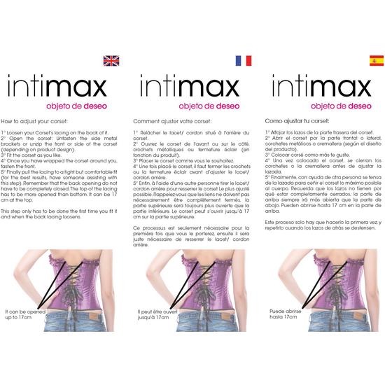 INTIMAX CORSET OLIMPO PINK (PEQUENA - )
