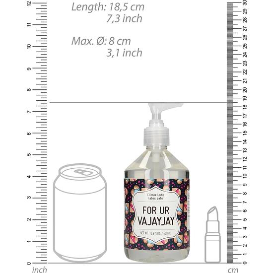 CLIMAX LUBRICANTE - FOR UR VAJAYJAY - 500 ML (1)