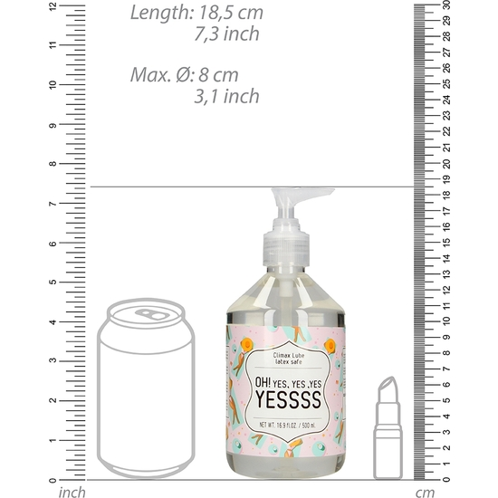 CLIMAX LUBRICANTE  - OH! YES, YES ,YES YESSSS - 500 ML (1)