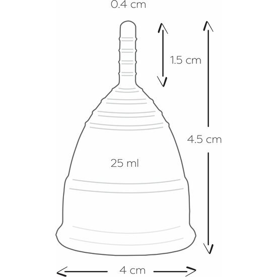MENSTRUAL CUPS SIZE S-ROSA (5)